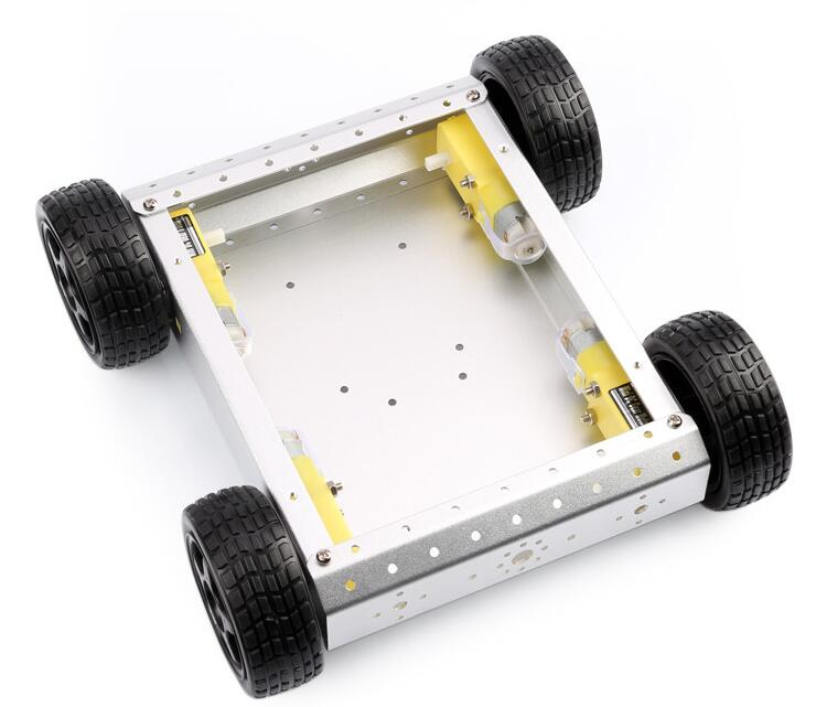 4WD aluminum alloy off-road mobile robot platform can carry Arduino raspberry stainless steel frame