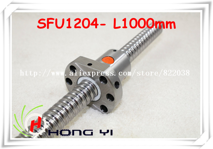 1pcs Ball screw SFU1204 - L1000mm+ 1pcs Ballscrew Ballnut for CNC and BK/BF10 standard processing sfu3210 ball screw l1000mm ballscrew 1pcs single ballnut