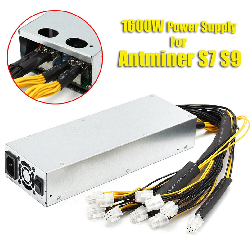 Platinum 1600w 92% Mining Power Supply For Bitcoin Miner S7 S9 12.5T/13T/13.5T Oct13 Professional Drop Shipping 1600w psu ant s7 a6 a7 s7 s9 l3 miner machine server mining board power supply