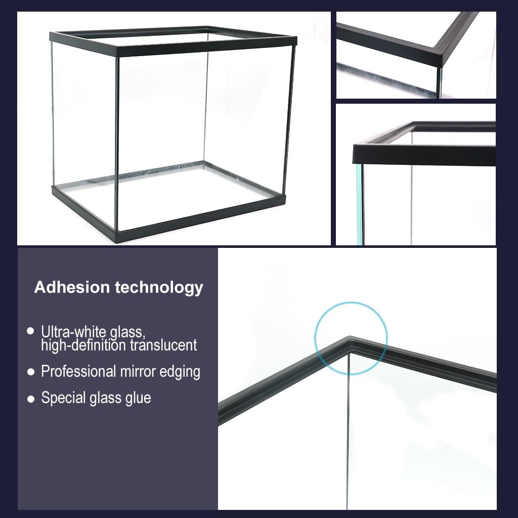 Aquarium Aquarium 3 en 1 Kit Aquarium avec Aquarium en verre, filtre et affichage de lumière LED - 3