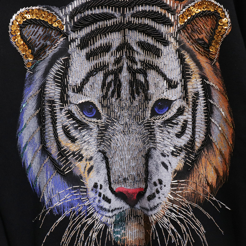 Pull Tenues Perles Motif 2019 Paillettes 2 Automne Black Ensembles Main À Pièces Tricoté La Tigre Chandail Nouveau Femmes Pantalon Survêtements x1WFnW7z