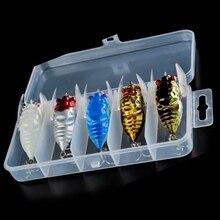 חדש 5 יח\קופסא צרצר דיג פיתיון חרקים דיג פיתוי Pesca מלאכותי פיתיון יפני וו קרפיון קרס דיג Wobbler 5CM6g