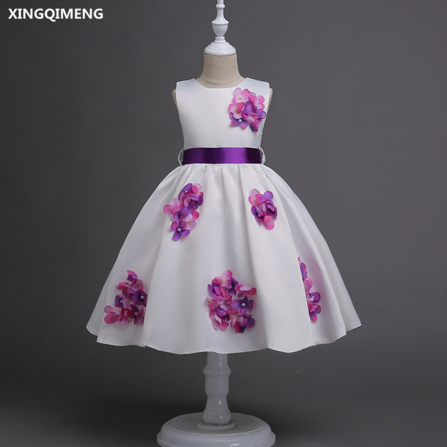 In stock purple and white flower girl dresses 3 16y short first holy in stock purple and white flower girl dresses 3 16y short first holy communion dresses mightylinksfo