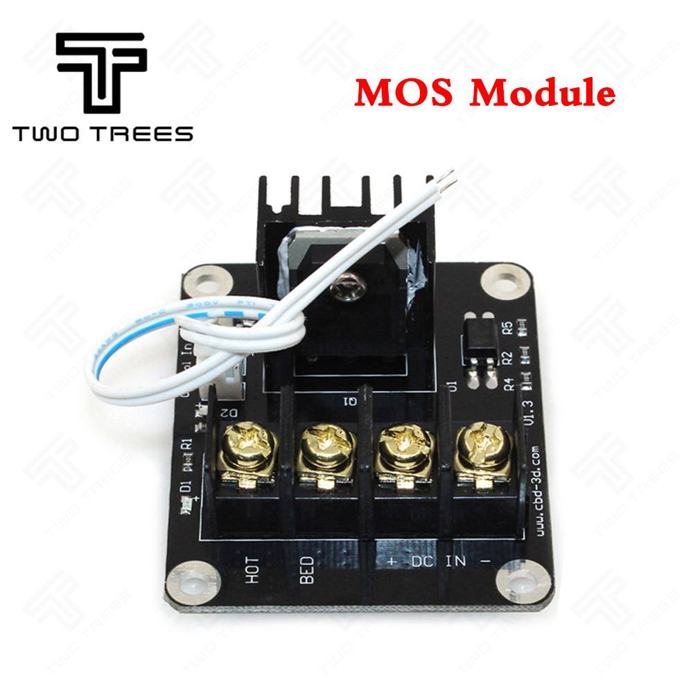 2Pcs 3D Print part MOS tube module heating controller MKS MOSFET for heat bed/extruder MOS module exceed 30A support big current paint tube 3d print hoodie