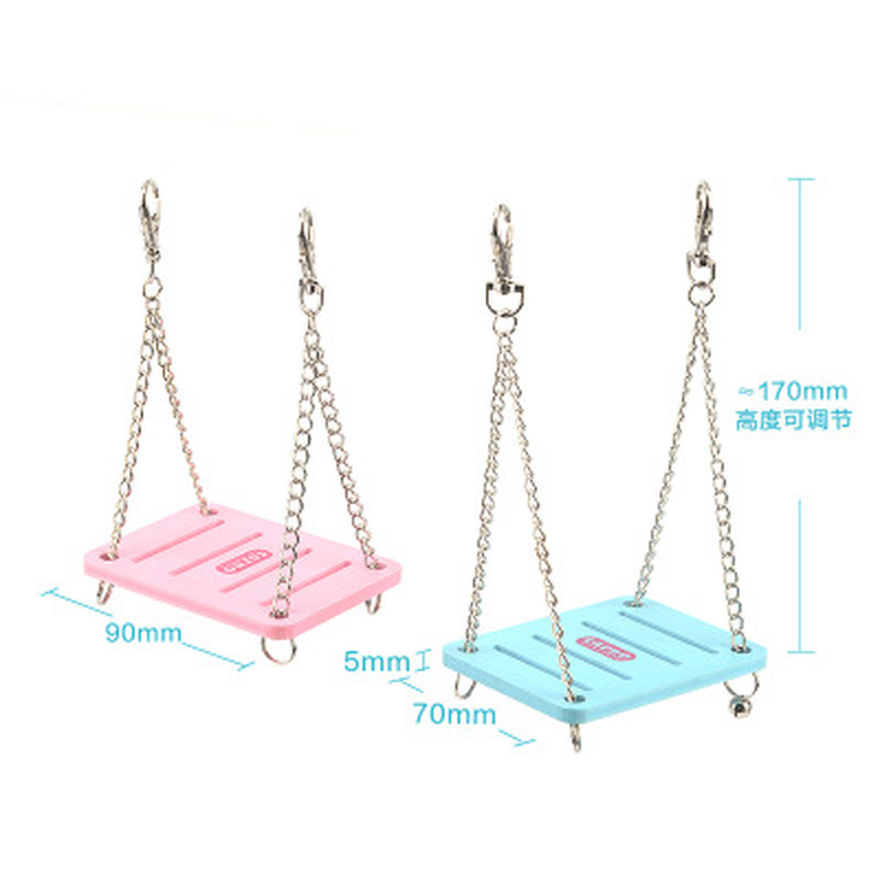 Cute Parrot Hamster Small Swing Hanging Bed Shake Suspension House Props Pet Products Toy