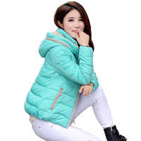 2019 jaqueta de inverno com capuz gola feminina casaco de inverno jaqueta básica outono feminino outwear algodão acolchoado casaco feminino