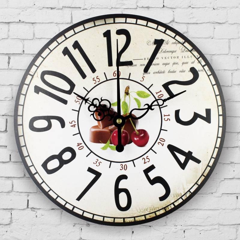 Fashion Absolutely Silent Quartz Vintage Wall Clock Kitchen Home