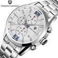 PAGANI DESIGN Sport Watches Men's Luxury Brand Stainless Steel Chronograph Watch Male Waterproof Quartz Wrist Watch Men Clock