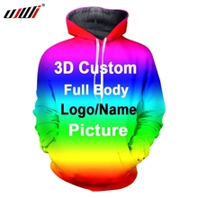 UJWI Customized Printed Pattern LOGO Name Singlet Hoodies Sw