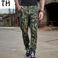 2017 Spring Autumn Pockets Military Pants Men Straight Cargo Camouflage Pant Long Casual Trousers Pantalon Homme #162026
