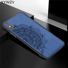 For Apple iPHONE XS Shockproof Soft TPU Silicone Cloth Texture Hard PC Phone Case Max Cover Iphone Fundas