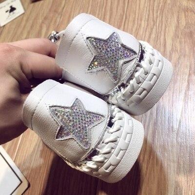 Strass Plates Version Coréenne Chaussures 2 Étoiles 1 Saisons Bas Plate Avec Cuir Casual La Ceinture Automne En Femmes 2018 De forme BOBqx1