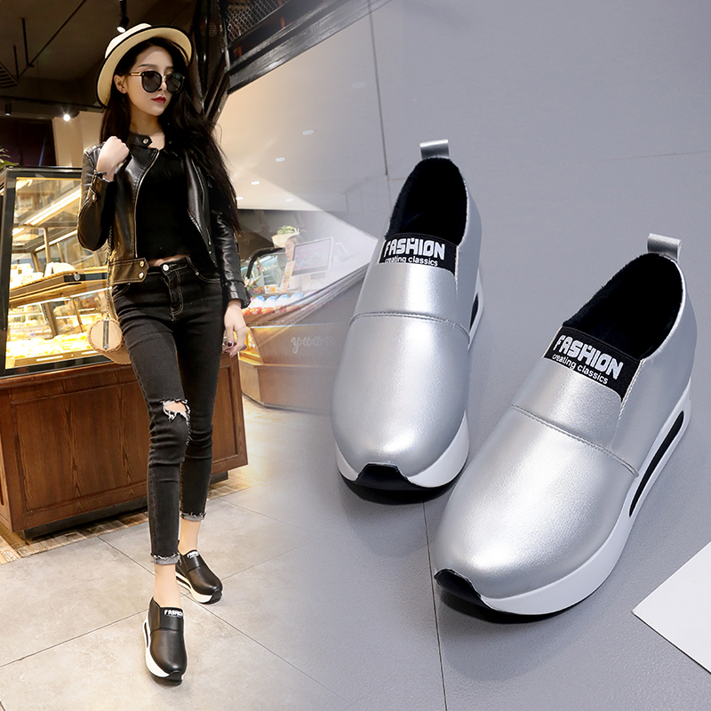 Women Casual Shoes Height Increasing Slip on Breathable Women Walking Flats Trainers Shoes Autumn Platform Dropshipping stainless steel auto side door trim moulding auto accessories for mitsubishi pajero sport 2014
