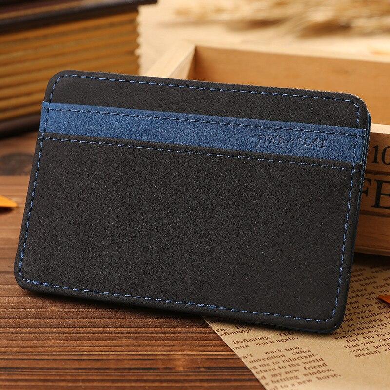 JINBAOLAI Slim Male Magic Wallet Scrub PU Leather Purse High Quality Carteira Magica Masculina Porte Monnaie Small Wallets 2018 3