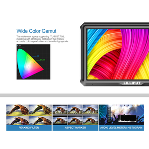 Image 3 - Lilliput A5 1920x1080 4K HDMI in/out Broadcast 5 zoll Kamera/Video Feld Monitor für canon Nikon Sony Zhiyun Gimbal glatte 4