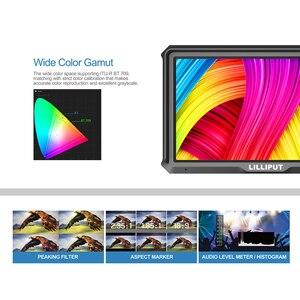 Image 3 - كاميرا lilliplace A5 1920x1080 4K HDMI داخل/خارج البث 5 بوصة/فيديو رصد المجال لكانون نيكون سوني Zhiyun Gimbal السلس 4