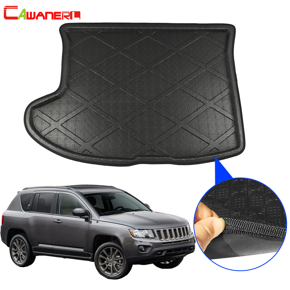 Cawanerl For Jeep Compass Car Cargo Liner Boot Floor Trunk Mat Tray Carpet Pad 2007 2008 2009 2010 2011 2012 2013 2014 2015 2016