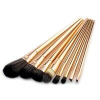 8PCS Rose Gold Make Up Brush Set High Quality Foundation Blusher Powder Brush Tools Flat Eyeliner