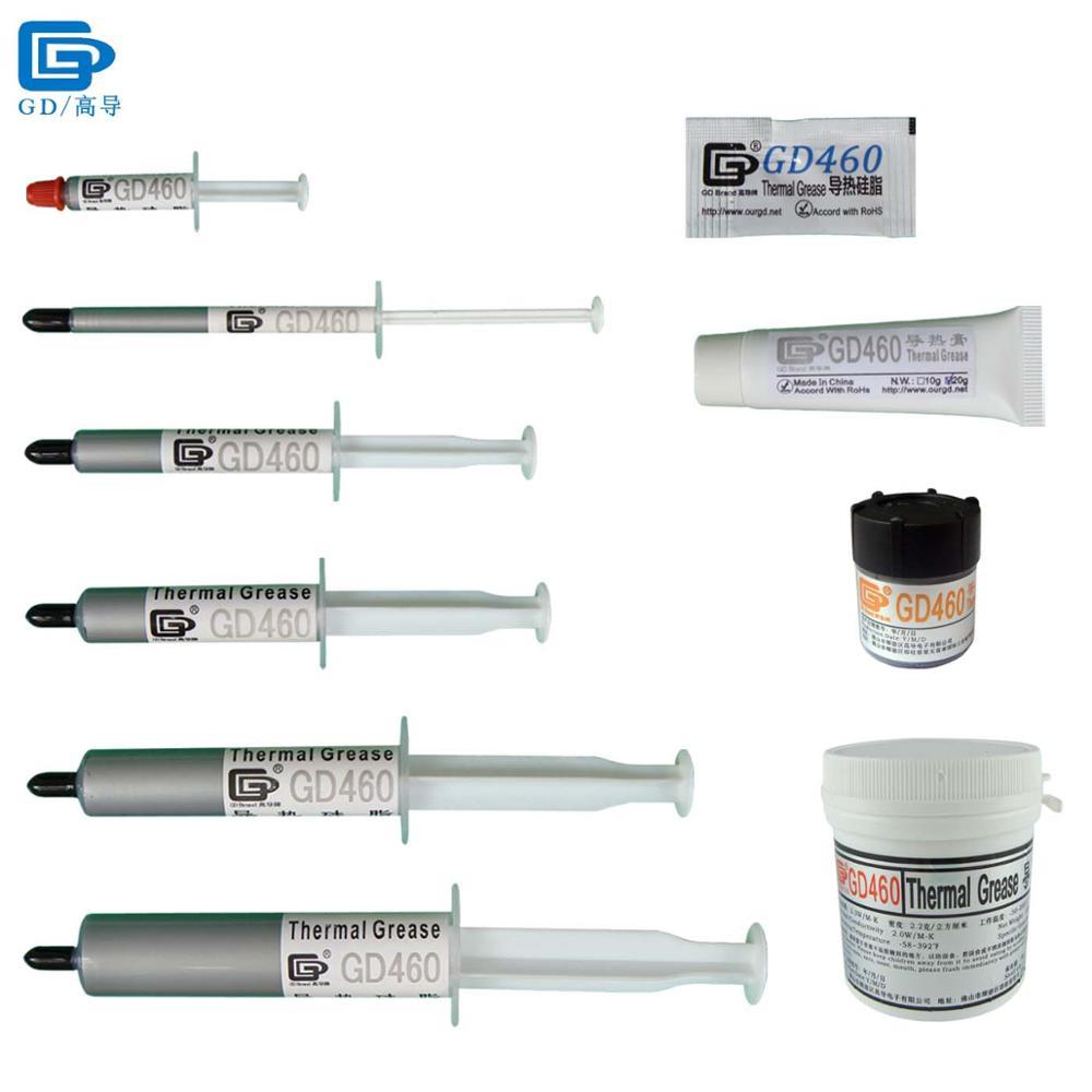 GD460 Graisse Conductrice Thermique de Silicone De Pâte Plâtre Composé De Dissipateur Thermique Argent SSY1 SY1 SY3 SY7 SY15 SY30 MB05 ST20 CN20 CN100