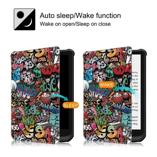 Slim Magnetic cover case for Pocketbook 616/627/632 funda cover for PocketBook Touch Lux 4 Basic Lux 2 Touch HD 3 case