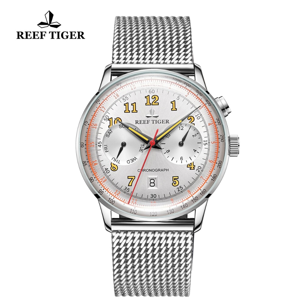 Reef Tiger/RT Top Luxury Watches for Men Date Waterproof Watches Rose Gold Automatic Watches  RGA9122