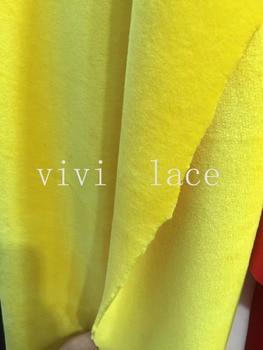 stock 5 yards xu001# yellow mink velvet  bonded 2 layer luxury winter dress lace for bridal wedding dress