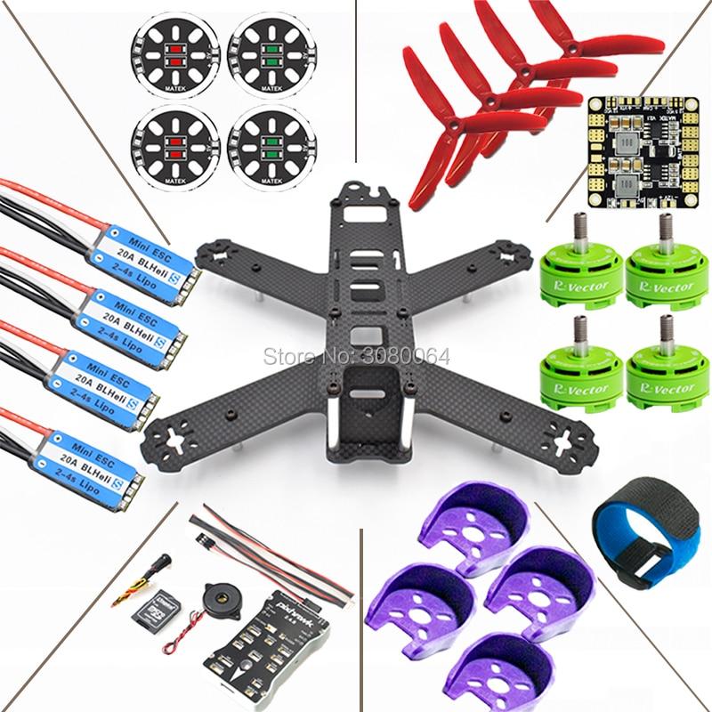QAV210 Quadcopter Frame Kit+Pixhawk PX4 Autopilot PIX 2.4.8 Flight Controller+20A ESC BLHeli_S+RV2306 KV2650 Brushless Motor DIY qav210 quadcopter frame kit cc3d flight