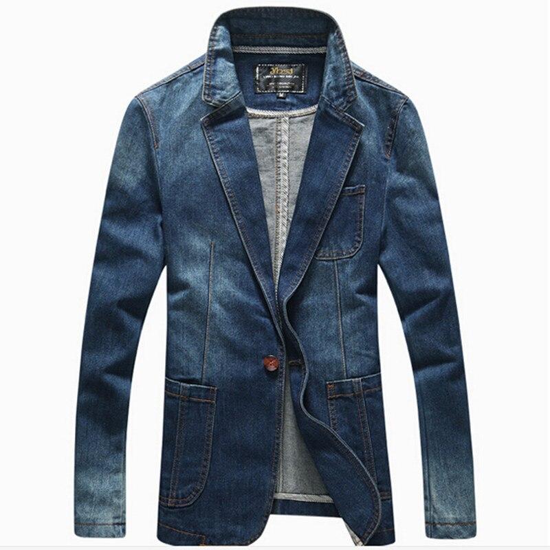 2016 Denim Jean Blazers Menu0026#39;s Suit Jackets Fit Casual Blazers Male Dress Blazers Clothes Long ...