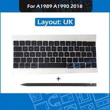 NEW A1989 A1990 UK Keycap For Macbook Pro Retina 13″ 15″ Touchbar Mid 2018 Keycaps Set with Crowbar Repair Keyboard