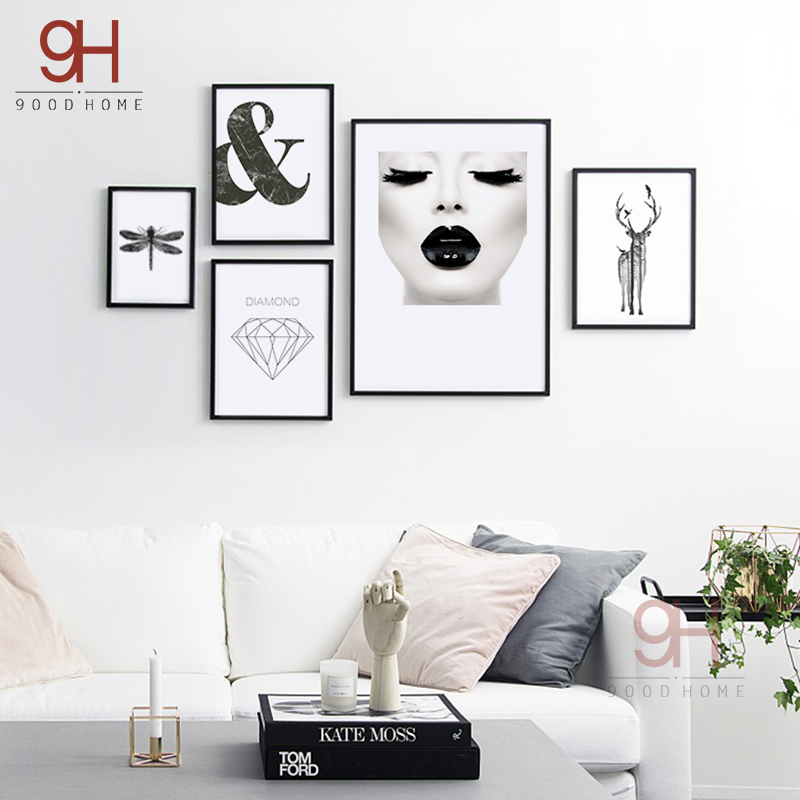 Buy 900d Canvas Art Print Painting Poster Nordic Wall Pictures For Home