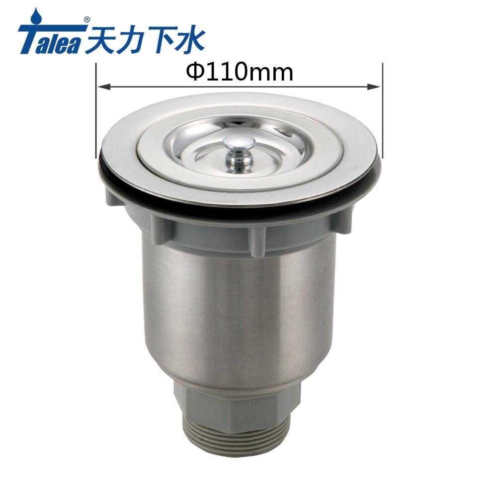 Talea 110mm Acero inoxidable fregadero escurridor fregadero de cocina tapón de cesta colador de alcantarillado filtro de malla tapón de residuos