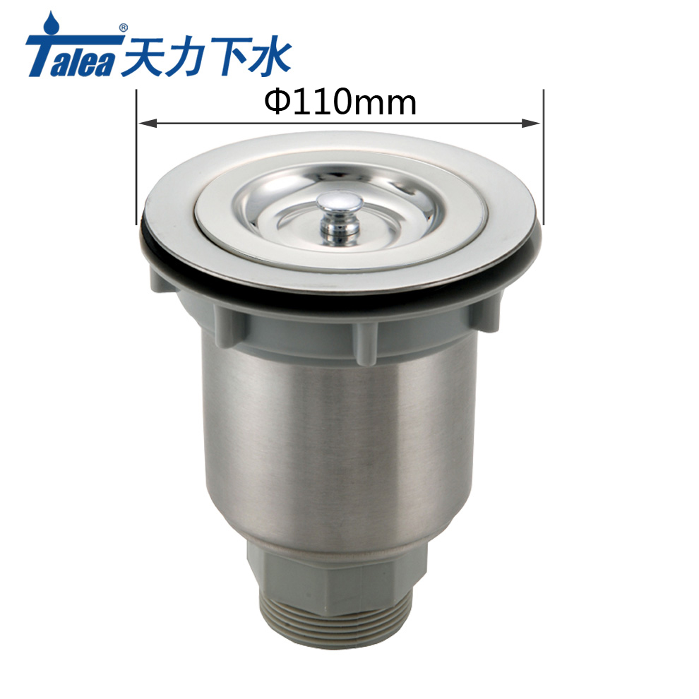 Talea 110mm Stainless Steel Sink Drain strainer Kitchen Sink stopper Basket Strainer Sewer Filter Mesh Stopper Waste