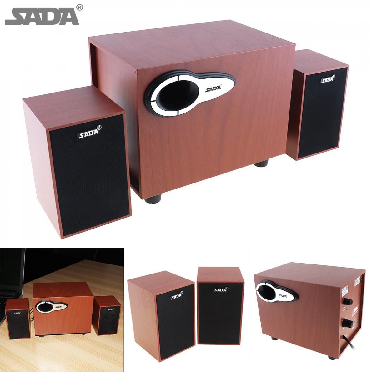 100% QualitäT Sada Mini Holz Bluetooth Subwoofer Kombination Computer Lautsprecher Mit 3,5mm Audio Stecker Und Usb 2.1 Power Wired Für Desktop Pc