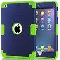 Для Funda iPad Mini 2 Крышка Амортизации Силиконовые High Impact Гибридный три Слоя Броня Чехол для iPad Mini 3 2 1