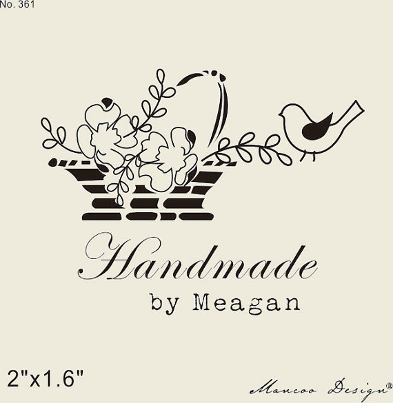 Custom Logo Stamp Flower Handmade Basket Personalized Rubber Vintage 2x16 Inch In Stamps From Home Garden On Aliexpress