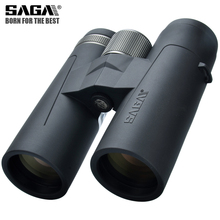 Saga binóculos de alta definição 8x42 10x42 ed lente acampamento caça escopos grande ocular telescópio profissional binocular hd