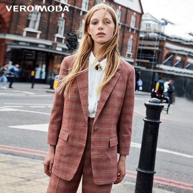 Vero Moda three-quarter  Sleeves Plaid Blazer |318308518
