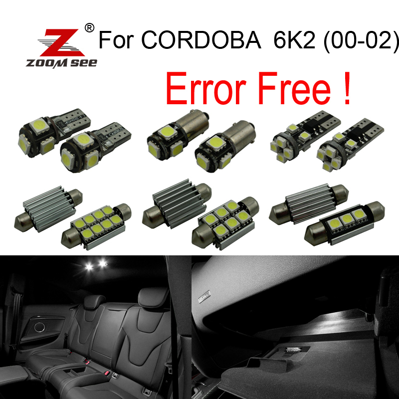 11pc X LED  Parking position bulb + Interior dome map Light Kit Package for Seat for CORDOBA 6K2 (2000-2002) 27pcs led interior dome lamp full kit parking city bulb for mercedes benz cls w219 c219 cls280 cls300 cls350 cls550 cls55amg