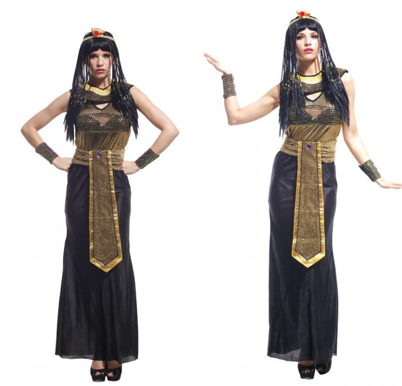 Egyptian Cleopatra Costume Egyptian Goddess Roman Halloween party Dress Cosplay Fancy Dress For Women Purim costume