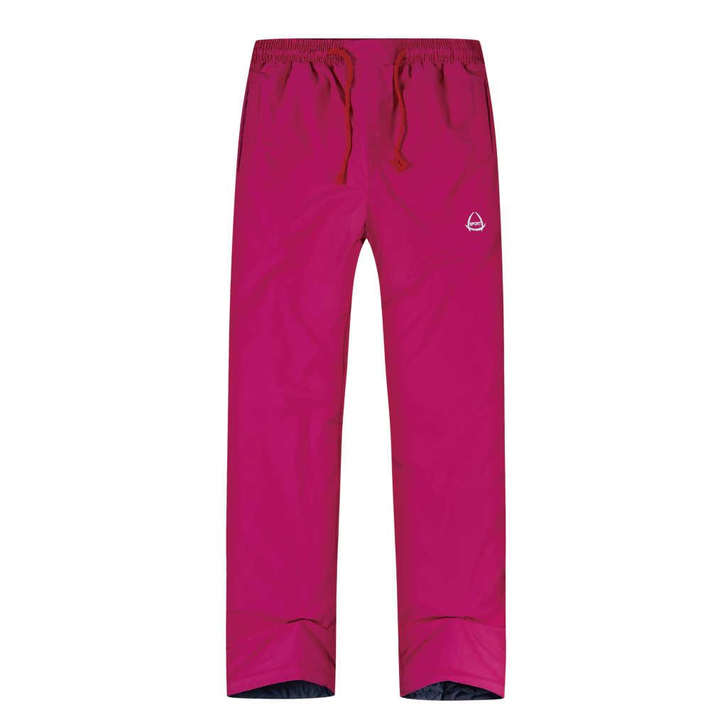 2019 kadın kayak pantolonu marka yeni açık yüksek kaliteli pantolon erkek rüzgar geçirmez su geçirmez sıcak kış kar Snowboard yürüyüş kamp