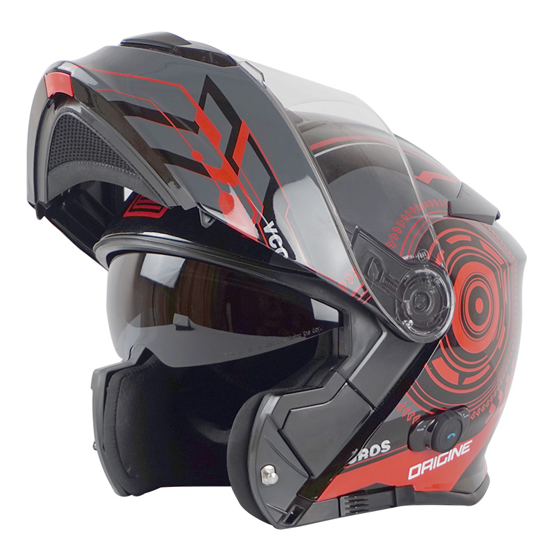 New Bluetooth Motorcycle Helmet Built In Intercom Device Origine