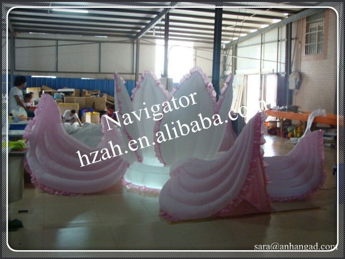 Pink inflatable wedding flower decoration 2017 new inflatable flower long wedding decoration flower