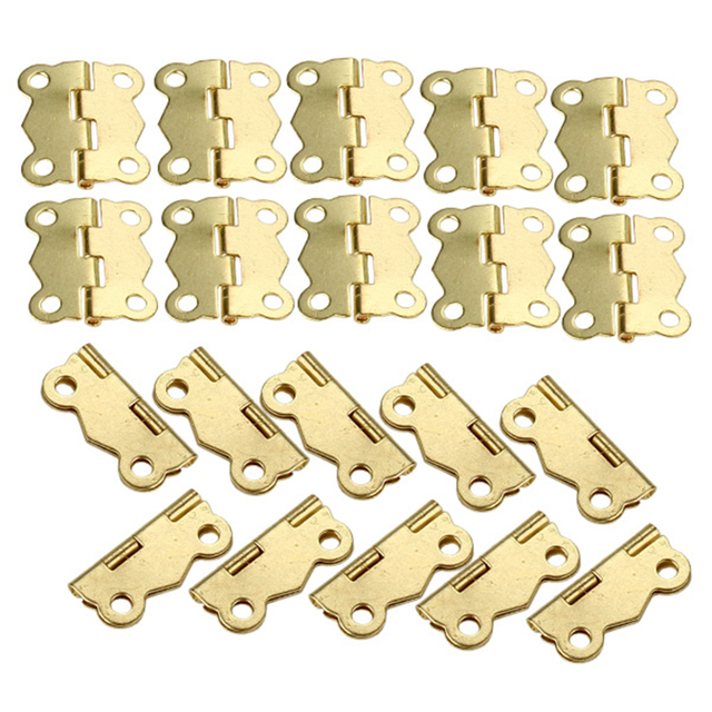 Mini Butterfly Style Cabinet Drawer Butt Hinge Lightweight Pack of 20
