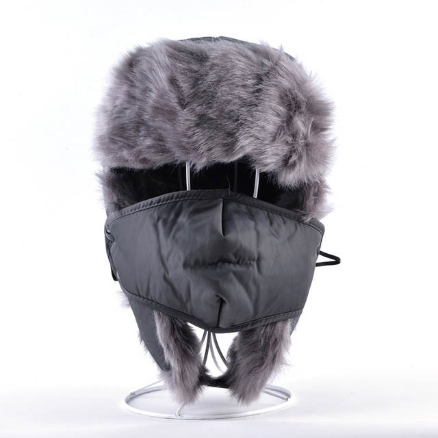 065bb2952 US $9.65 42% OFF|2017 Fashion winter warm russian hats for men faux fur cap  with ear flaps aviator trapper hat women casual snow caps gorro-in Bomber  ...