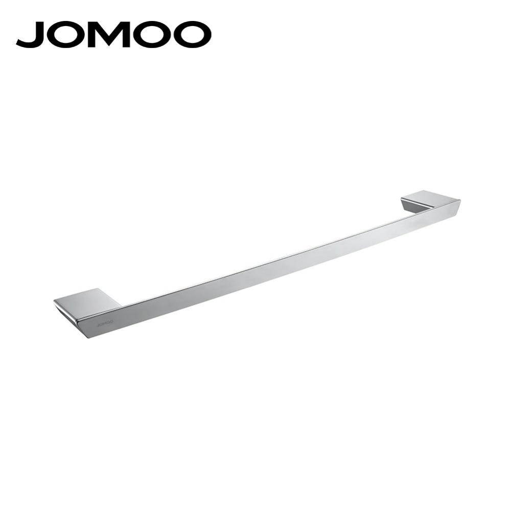 JOMOO Brand Bathroom Bath single towel holder towel rack towel bar bathroom accessories wall towel 936108 lengthened thickening bathroom towel bar single lever rack free nail