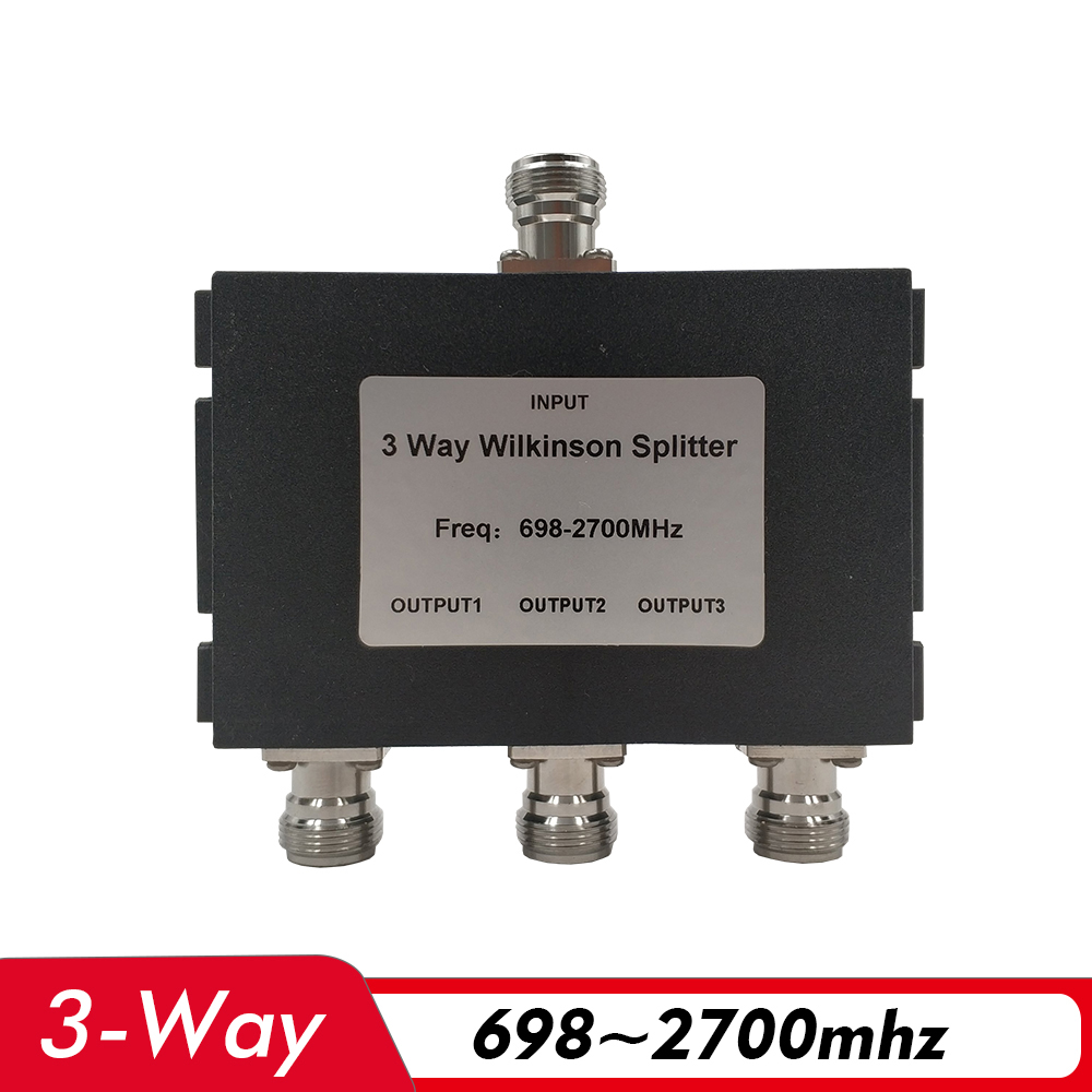 3-Way Power Splitter 698~2700MHz N-Female Power Divider Connect 2G 3G 4G Mobile Signal Booster Repeater Amplifier Antenna Cable