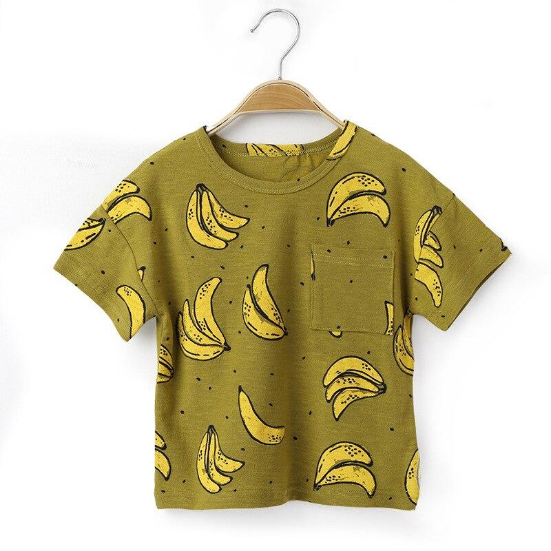 Banaan Gedrukt T-shirt Voor Jongen Katoen Kinder T-shirts Zomer Kinderen T Shirts Jongens Tops Korte Mouwen Kleding T-shirt Fijn Vakmanschap