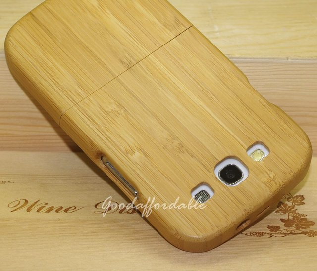 Real Natural Wood Cover Case for Samsung GT I9300 Galaxy S3