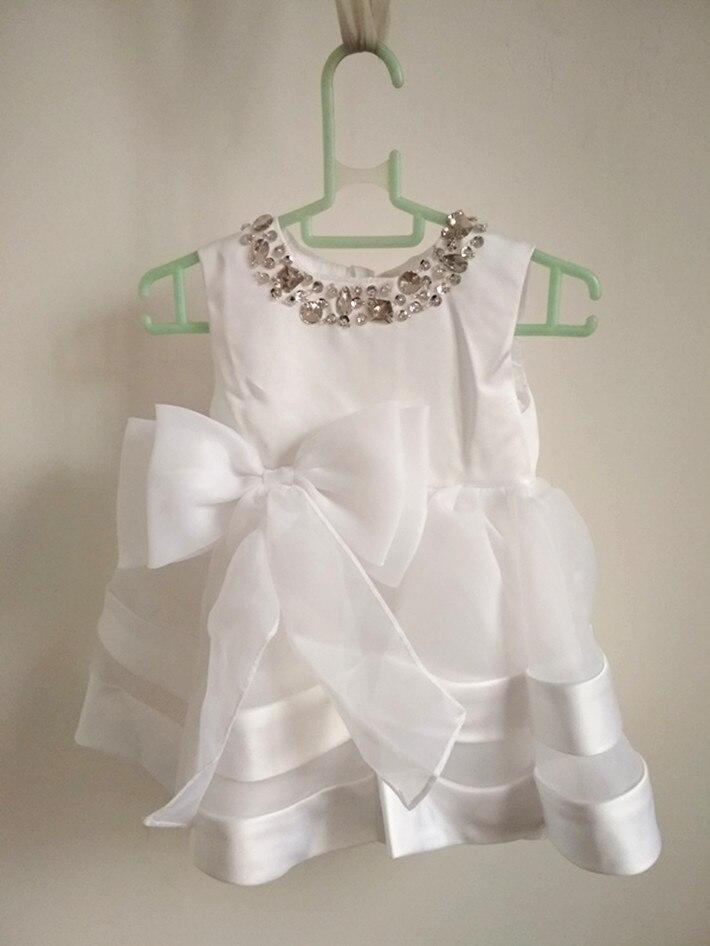 BBWOWLIN blanc bébé fille robe de noël pour 0-1 ans bébé fille vêtements