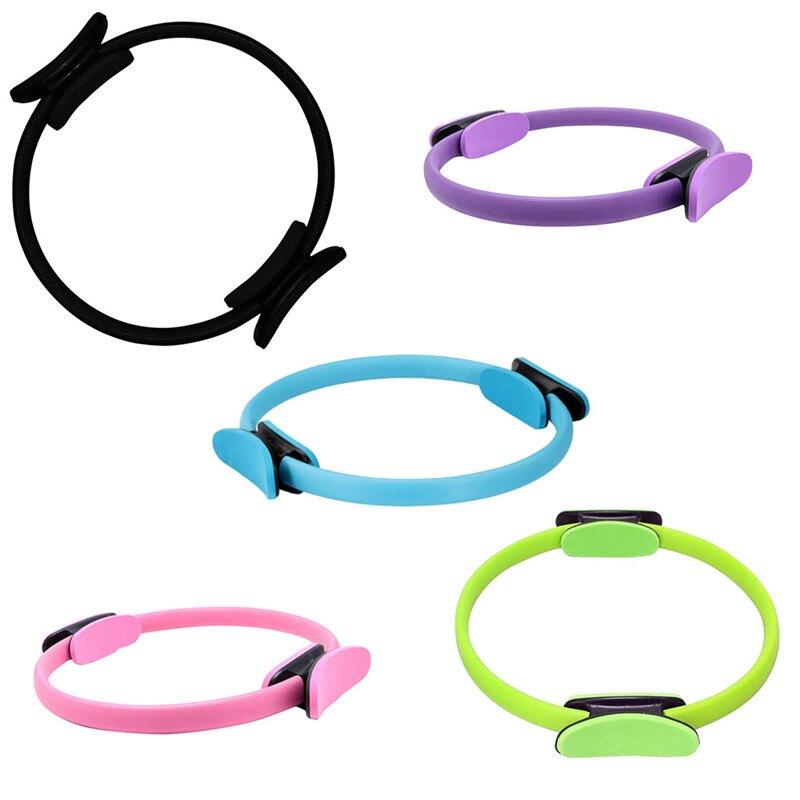 ①  5 цветов двойное сцепление пилатес кольцо волшебный круг мышц упражнения для тела йога фитнес оборуд ✔